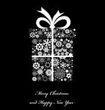Christmas gift boxe from snowflakes. Royalty Free Stock Photos