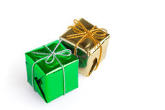 Christmas gift boxes Stock Image
