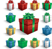 Christmas Gift boxes. Vector Gift boxes for Christmas or birthday Stock Photography