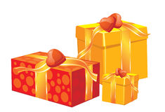 Christmas gift boxes Royalty Free Stock Photo