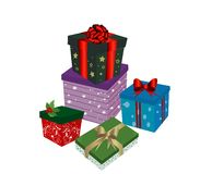 Christmas gift boxes Royalty Free Stock Photography