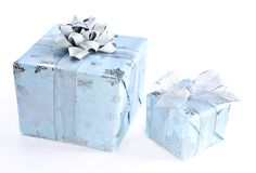 Christmas gift boxes Royalty Free Stock Photos