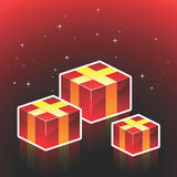 Christmas gift boxes Stock Images