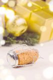 Christmas gift boxes and balls Royalty Free Stock Images