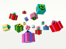 Christmas gift boxes. 3d render illustration Stock Images