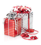 Christmas gift boxes and decor Stock Photography