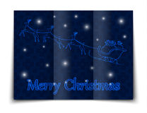 Christmas gift boxes decorated in a sleigh, doodle illustration Royalty Free Stock Images