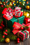 Christmas gift boxes Royalty Free Stock Images