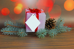 Christmas gift boxes with decorations Royalty Free Stock Photography