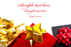 Christmas gift boxes frame Royalty Free Stock Photography