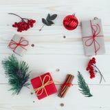Christmas gift boxes illustration. Royalty Free Stock Photos