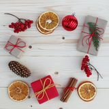 Christmas gift boxes illustration. Royalty Free Stock Photography