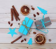 Christmas gift boxes illustration Stock Photos