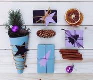 Christmas gift boxes illustration Stock Photography