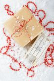 Boxes with Christmas gifts. Royalty Free Stock Photo