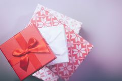 Christmas gift boxes modern filter Royalty Free Stock Images