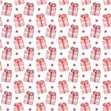 Christmas gift boxes pattern. Festive vector background. Wrapping paper. Christmas gift boxes pattern. Festive vector background. Wrapping paper Stock Photography