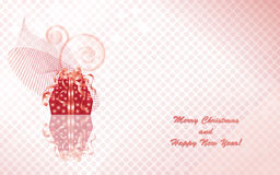 Christmas gift boxes on the pink mosaic background Stock Images