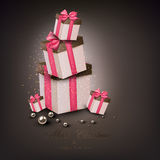Christmas gift boxes. Stock Image