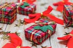 Christmas gift boxes Royalty Free Stock Photos