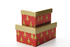 Christmas gift boxes with separate lid Royalty Free Stock Image