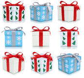 Christmas gift boxes set of gifts Stock Photography