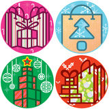 Christmas Gift boxes Shopping elements Royalty Free Stock Photos