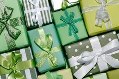 Christmas gift boxes Stock Photography