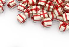 Christmas gift boxes. On white background Stock Image