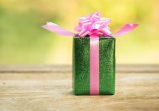 Christmas gift boxes. Stock Photo