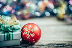 Christmas gift boxs with decoration Royalty Free Stock Photography
