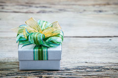 Christmas gift boxs with decoration Royalty Free Stock Photo