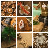 Christmas gift and candy Stock Images