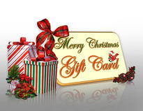 Christmas Gift Card  Royalty Free Stock Photos