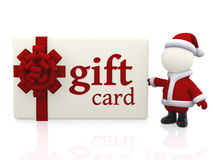 Christmas gift card Stock Photography