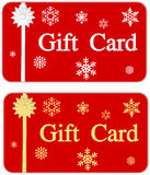 Christmas Gift Card Stock Image