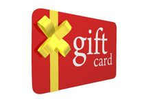 Christmas Gift Card. For sale Royalty Free Stock Image