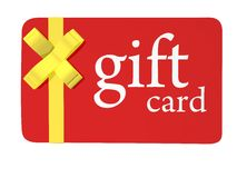 Christmas Gift Card. For sale Royalty Free Stock Photo