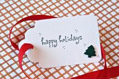 Christmas gift card Stock Photos