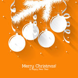 Christmas gift card with flat elements Stock Photography