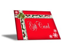 Christmas Gift Card illustration 3D Royalty Free Stock Photos