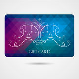 Christmas Gift Card. Illustration for your business Royalty Free Illustration