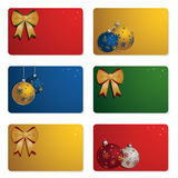 Christmas gift cards Stock Images