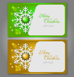 Christmas gift Cards with gems Stock Image