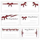 Christmas gift cards set eps10 Stock Photo