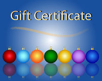 Christmas Gift Certificate Stock Images