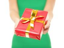 Christmas gift closeup Royalty Free Stock Image