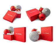 Christmas gift collage Royalty Free Stock Photo