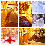 Christmas gift concept collage Stock Image