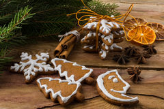 Christmas gift cookies royalty free stock images